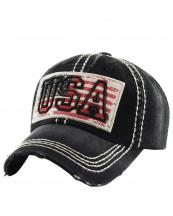 KBVT654(BK)-W95-wholesale-baseball-cap-american-flag-usa-stars-striped-embroidered-vintage-torn-cotton-crumpled(0).jpg