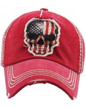 KBVT684(RD)-wholesale-cap-baseball-skull-american-flag-usa-star-stripe-vintage-torn-cotton-crack-red-white-blue(0).jpg