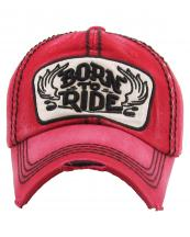KBVT731(RD)-wholesale-cap-born-to-ride-wings-motorcycle-handle-bar-emboss-embroidery-baseball-vintage-cotton(0).jpg