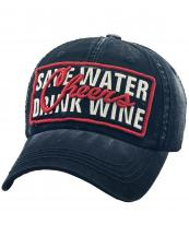 KBVT767(BK)-wholesale-cap-baseball-cheers-save-water-drink-wine-lurex-metallic-embroidered-leatherette-brim(0).jpg