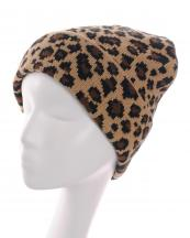 KBW7022(ALLOVER)-wholesale-beanie-leopard-pattern-knitted-solid-color-stretch-one-size-acrylic-animal-woven-fold-up(0).jpg