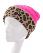 KBW7022(HPK)-wholesale-beanie-leopard-pattern-knitted-solid-color-stretch-one-size-acrylic-animal-woven-fold-up(0).jpg