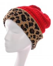 KBW7022(RD)-wholesale-beanie-leopard-pattern-knitted-solid-color-stretch-one-size-acrylic-animal-woven-fold-up(0).jpg