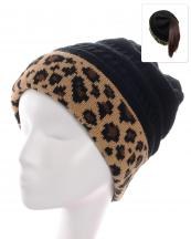 KBW7023H(BK)-wholesale-beanie-leopard-ponytail-animal-pattern-knitted-fold-up-stretch-one-size-acrylic-messy-bun-(0).jpg