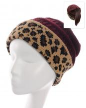 KBW7023H(BUR)-wholesale-beanie-leopard-ponytail-animal-pattern-knitted-fold-up-stretch-one-size-acrylic-messy-bun-(0).jpg