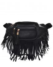 KL088(BK)-wholesale-fanny-pack-waist-bag-fringe-tassel-solid-color-gold-metal-faux-leatherette-zipper-pockets(0).jpg