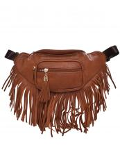 KL088(TAN)-wholesale-fanny-pack-waist-bag-fringe-tassel-solid-color-gold-metal-faux-leatherette-zipper-pockets(0).jpg