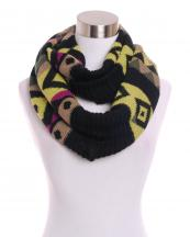 KSF103(BK)-wholesale-acrylic-Iinfinity-scarf-aztec-knit-multi-color-versatile(0).jpg