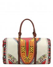 L0164(BG)-wholesale-duffel-bag-multi-color-ethnic-tribal-pattern-vegan-leather-travel-gym-shoulder-strap-belt(0).jpg