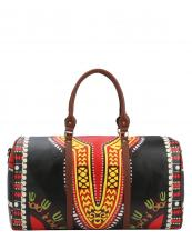 L0164(BK)-wholesale-duffel-bag-multi-color-ethnic-tribal-pattern-vegan-leather-travel-gym-shoulder-strap-belt(0).jpg