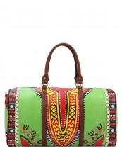 L0164(GN)-wholesale-duffel-bag-multi-color-ethnic-tribal-pattern-vegan-leather-travel-gym-shoulder-strap-belt(0).jpg