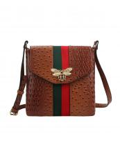 L0192(BR)-wholesale-messenger-bag-alligator-ostrich-animal-pattern-stripe-bee-charm-red-green-flap-vegan-gold(0).jpg