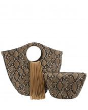 L0221(TP)-(SET-2PCS)-wholesale-handbag-pouch-bag-fringe-snake-animal-pattern-vegan-leatherette-gold-metal-ringe-handle(0).jpg