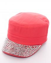 LB7442(COR)-wholesale-rhinestone-cadet-cap-velcro-adjustable--encrusted-(0).jpg