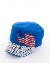 LB7448(RBL)-wholesale-rhinestone-cadet-cap-velcro-adjustable-encrusted-american-flag-(0).jpg