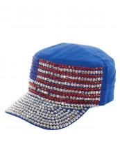 LB7502(BL)-wholesale-cadet-cap-rhinestone-american-flag-usa-stars-striped-encrusted-military-glitter-velcro(0).jpg
