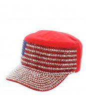 LB7502(RD)-wholesale-cadet-cap-rhinestone-american-flag-usa-stars-striped-encrusted-military-glitter-velcro(0).jpg