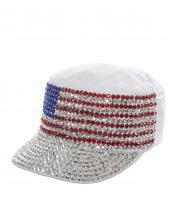 LB7502(WT)-wholesale-cadet-cap-rhinestone-american-flag-usa-stars-striped-encrusted-military-glitter-velcro(0).jpg
