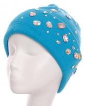 LB7509(TQ)-wholesale-beanie-solid-color-plain-leatherette-stretch-rhinestone-knit(0).jpg