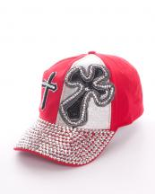 LB7580(RD)-wholesale-rhinestone-cap-embroided-sequin-lurex-cross-baseball-velcro-adjustable-encrusted-(0).jpg
