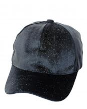 LCH109(GY)-wholesale-baseball-cap-glitter-shiny-velvet-solid-color-size-adjustable-hook-loop-closure-polyester(0).jpg