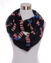 LF0006(BK)-wholesale-cross-us-flag-stars-striped-infinity-print-scarf-polyester(0).jpg