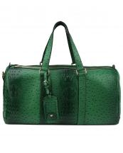 LF128(GN)-(SET-2PCS)-wholesale-duffle-bag-set-pouch-alligator-ostrich-leatherette-luggage-tag-double-zipper-travel-(0).jpg