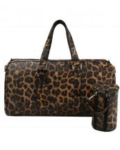 LF128(LP)-(SET-2PCS)-wholesale-duffle-bag-set-pouch-alligator-ostrich-leatherette-luggage-tag-double-zipper-travel-(0).jpg