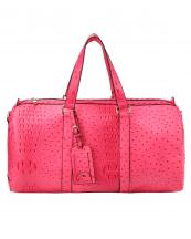 LF128(NF)-(SET-2PCS)-wholesale-duffle-bag-set-pouch-alligator-ostrich-leatherette-luggage-tag-double-zipper-travel-(0).jpg