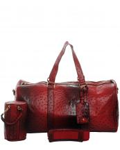 LF128(RD)-wholesale-duffle-bag-set-pouch-alligator-ostrich-leatherette-luggage-tag-double-zipper-travel-(0).jpg