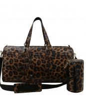 LF128LP(BR)-(SET-2PCS)-wholesale-duffle-pouch-bag-leopard-animal-pattern-vegan-leatherette-tag-travel-sport-wristlet-canvas(0).jpg
