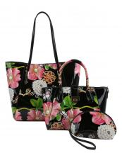 LF147F(BK)-(SET-3PCS)-wholesale-handbag-pouch-bag-floral-butterfly-pearl-rhinestone-graphic-patent-faux-vegan-leatherette(0).jpg