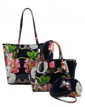 LF147F(NV)-(SET-3PCS)-wholesale-handbag-pouch-bag-floral-butterfly-pearl-rhinestone-graphic-patent-faux-vegan-leatherette(0).jpg