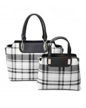 LF19295T2(BK)-2SET-wholesale-Two-handbag-plaid-checkered-strap-faux-leatherette-gold-hardware-(0).jpg