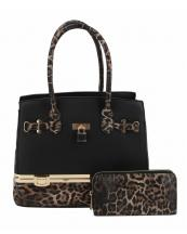 LH0491W1(BK)-(SET-2PCS)-wholesale-handbag-wallet-set-2pcs-leopard-padlock-gold-metal-compartment-bottom-leatherette-wristlet(0).jpg