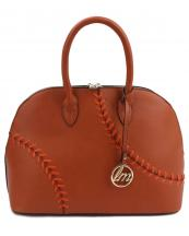 LHU069(BR)-wholesale-handbag-baseball-stitch-softball-theme-vegan-leather-gold-metal-emblem-compartments-strap(0).jpg