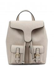 LHU081(BG)-wholesale-backpack-solid-color-vegan-leather-flap-belt-buckle-pocket-drawsting-plain-leatherette-(0).jpg