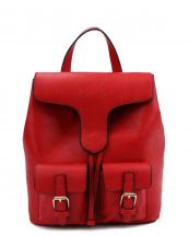 LHU081(RD)-wholesale-backpack-solid-color-vegan-leather-flap-belt-buckle-pocket-drawsting-plain-leatherette-(0).jpg
