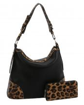 LHU2461W(BK)-(SET-2PCS)-wholesale-handbag-wallet-leopard-animal-pattern-vegan-leatherette-adjustable-handle-extended-gold(0).jpg