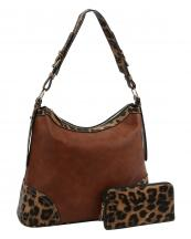 LHU2461W(BR)-(SET-2PCS)-wholesale-handbag-wallet-leopard-animal-pattern-vegan-leatherette-adjustable-handle-extended-gold(0).jpg