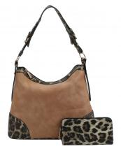 LHU2461W(TAN)-(SET-2PCS)-wholesale-handbag-wallet-leopard-animal-pattern-vegan-leatherette-adjustable-handle-extended-gold(0).jpg