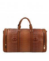 LHU308(BR)-wholesale-duffle-bag-set-pouch-alligator-ostrich-leatherette-luggage-tag-double-zipper-travel-(0).jpg