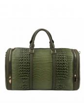 LHU308(RV)-wholesale-duffle-bag-set-pouch-alligator-ostrich-leatherette-luggage-tag-double-zipper-travel-(0).jpg