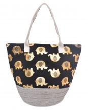 LOA114(BK)-Wholesale-animal-elephant-pattern-tote-bag-silver-tone-hardware-microfiber-interior-lining(0).jpg