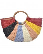 LOA284(RD)-Wholesale-fabric-texture-tote-bag-straw-design-microfiber-interior-lining-multi-color(0).jpg