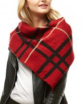 LOF1001(RD)-wholesale-scarf-poncho-tube-plaid-checkered-pattern-knitted-neck-warmer-one-size-fits-acrylic(0).jpg