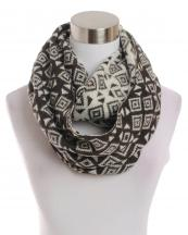 LOF145(KHA)-wholesale-infinity-scarf-diamond-pattern-knitted-versatile-acrylic-warm-fashion-two-tone(0).jpg