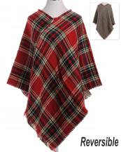 LOF171(RD)-wholesale-poncho-plaid-checkered-houndstooth-reversible-knitted-fringe-tassel-one-size-acrylic(0).jpg