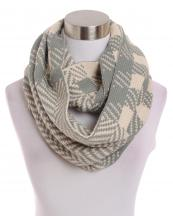 LOF185(IV)-wholesale-infinity-scarf-chevron-checkered-two-tone-versatile-acrylic-knitted-warm(0).jpg