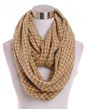 LOF191(BG)-wholesale-infinity-scarf-checkered-two-tone-knitted-versatile-acrylic(0).jpg